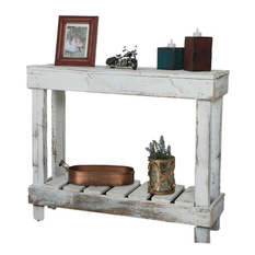 (del)hutson designs - barn wood entry table, white - console tables BLSRSKT
