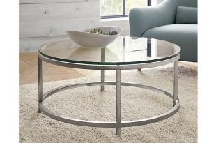 ... era round glass coffee table ... GQNSFPR