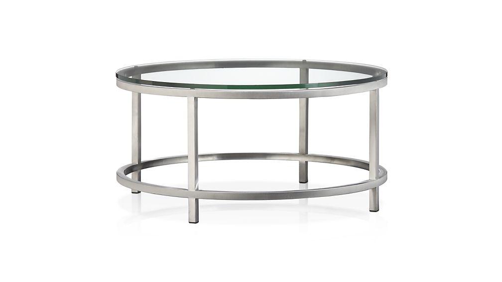 ... era round glass coffee table ZMFLWKU
