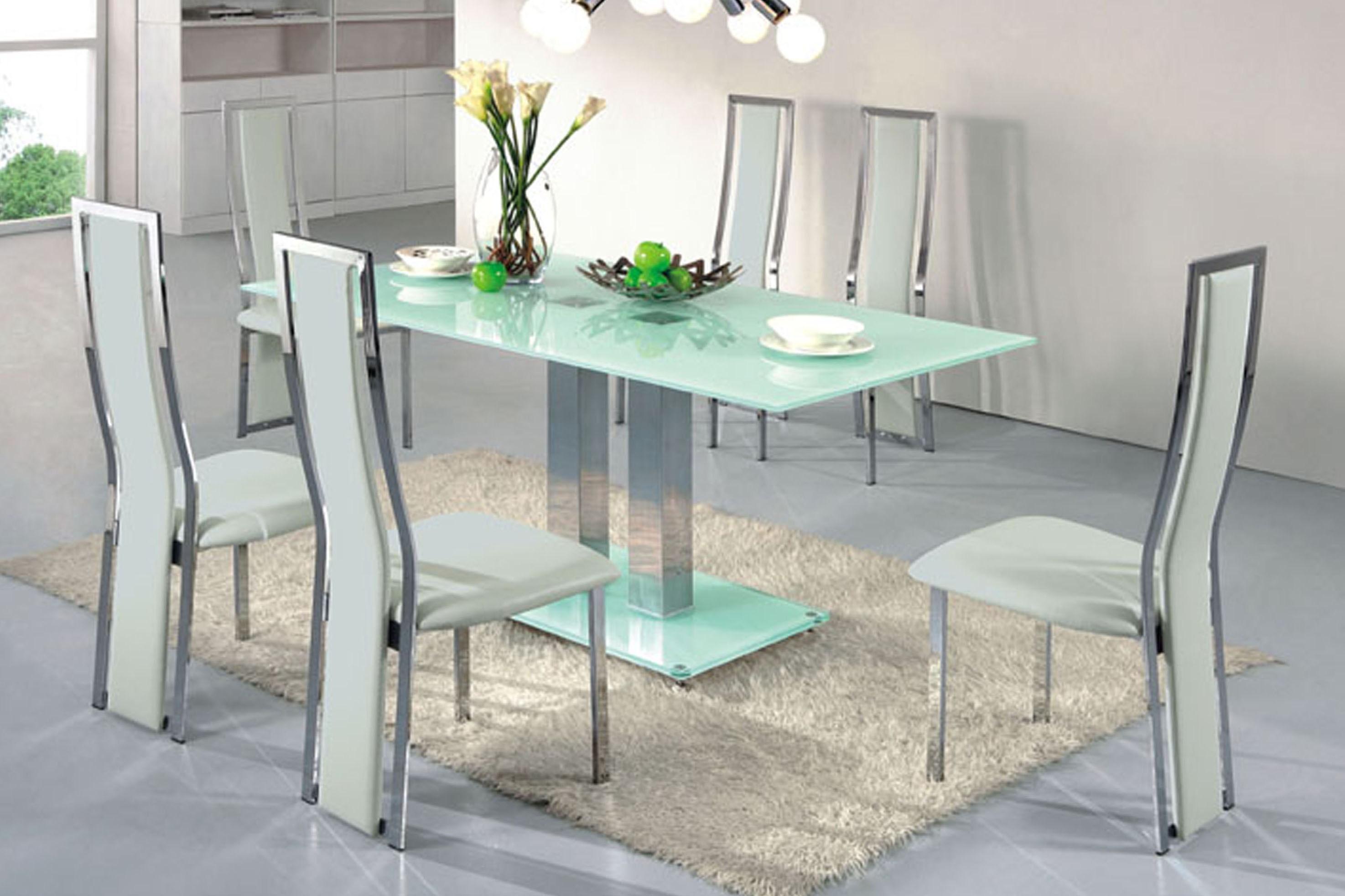 ... rectangle glass dining table style ... SAMIJBU