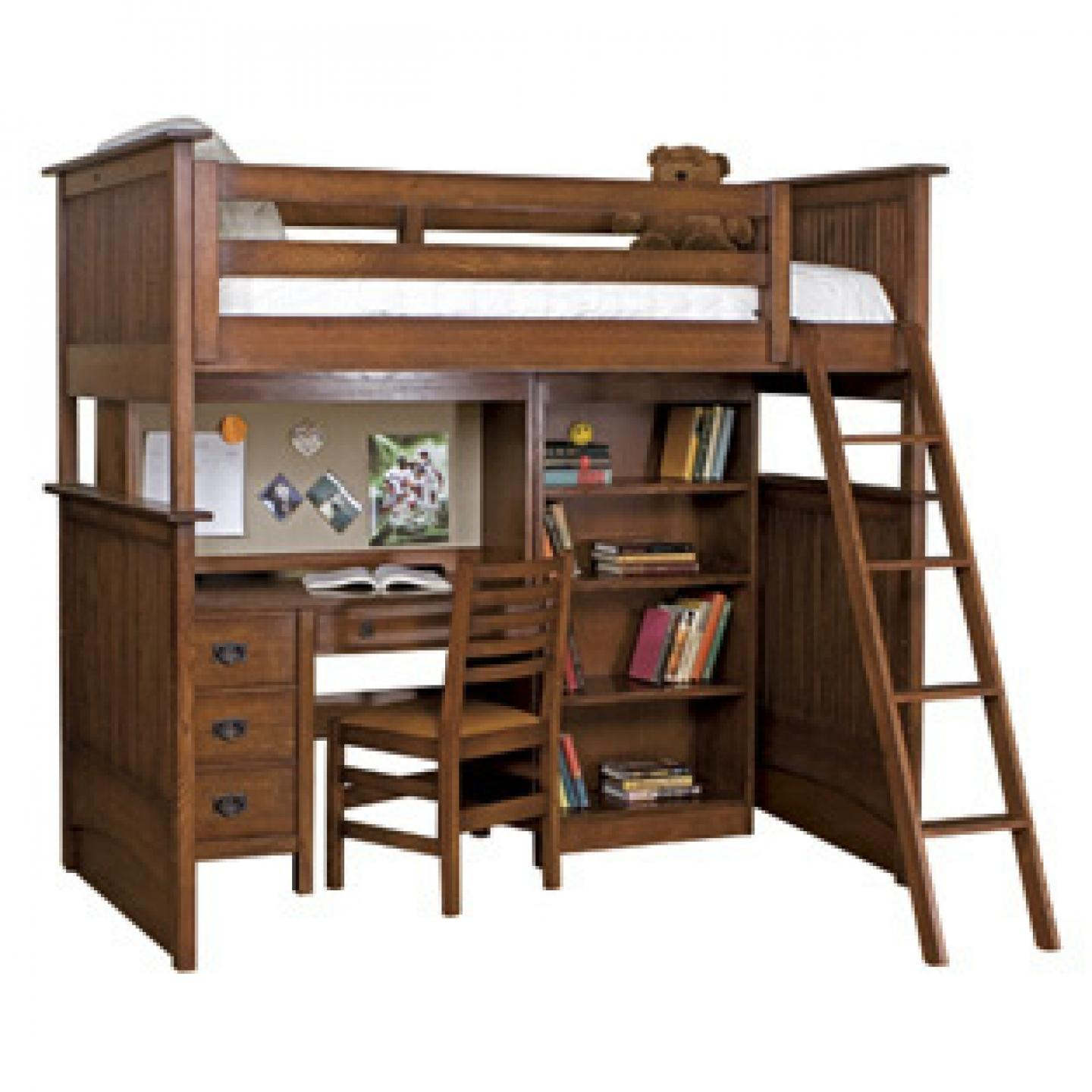 ... wood bunk bed desk ideas ... HZIHFCS