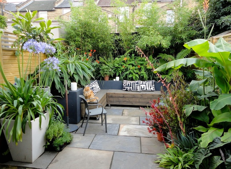 Design and decorate  backyard with small backyard ideas in unique style