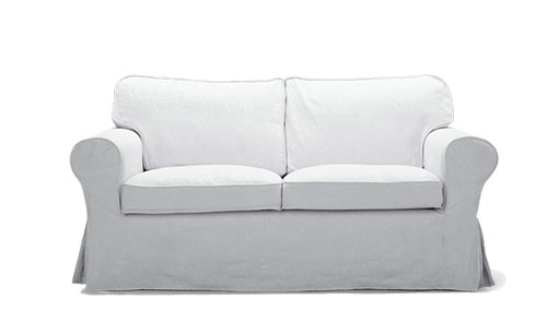 2 seater sofa the ikea ektorp two-seater fabric sofa in light blue has a removable cover AFFRLPG