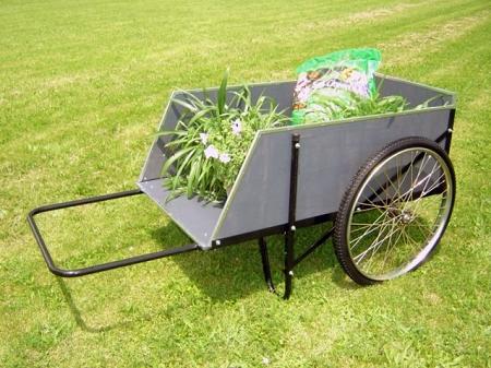 2-wheel wooden garden cart : ergonomic, durable large gardening cart CNFYCEO