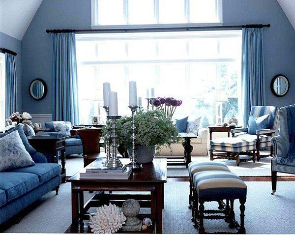 20 blue living room design ideas DALJRXX