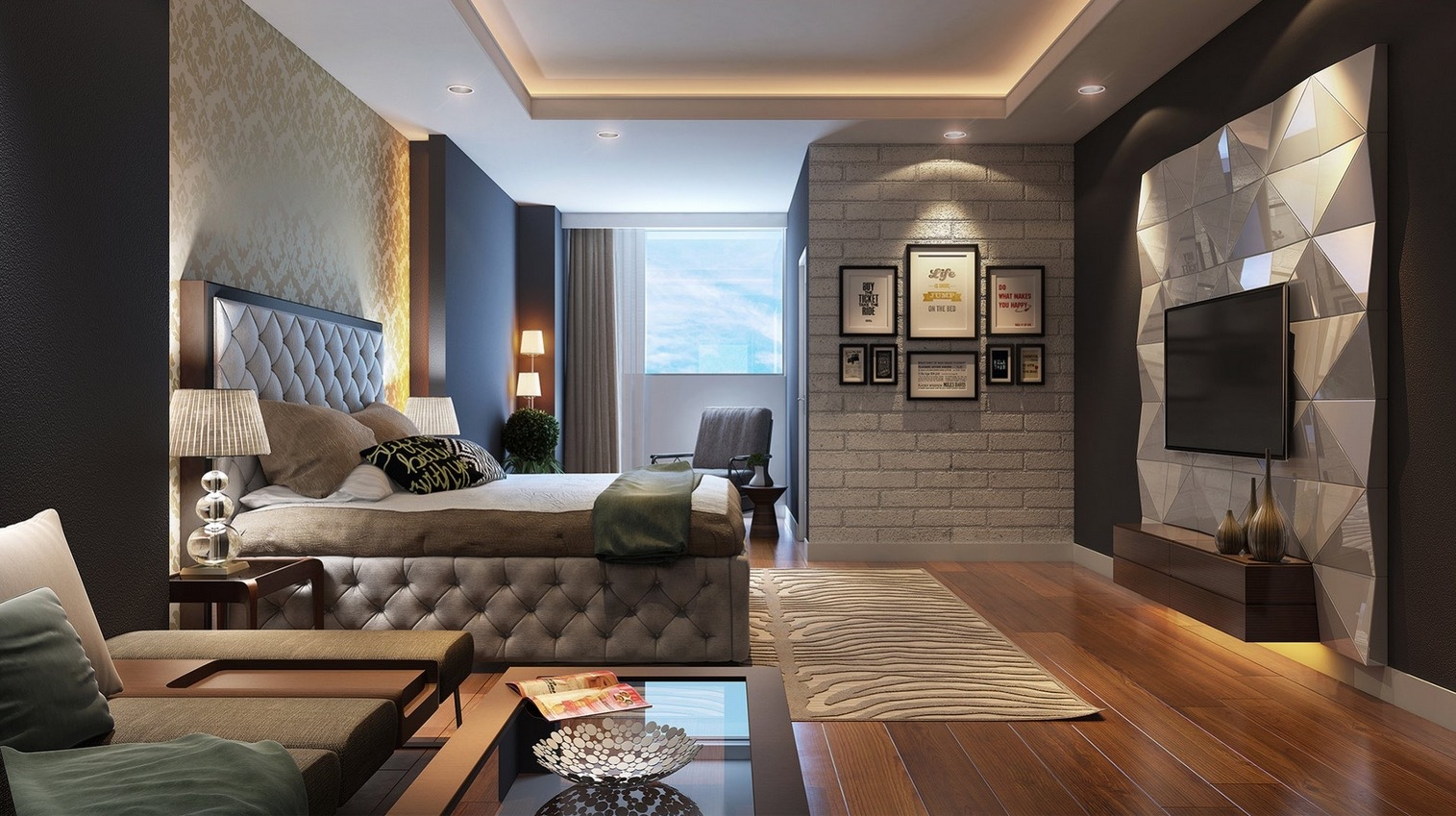 21 cool bedrooms for clean and simple design inspiration HWQHRVX
