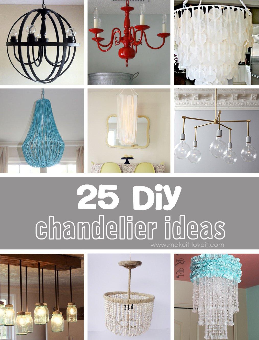 25 diy chandelier ideas RWXTOHZ