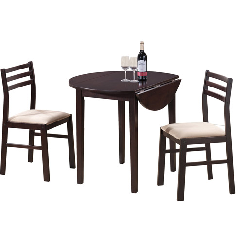 3 piece dining set coaster 3-piece breakfast dining set, cappuccino COHFNIE
