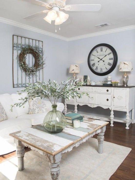 37 enchanted shabby chic living room designs   digsdigs QBMWYNT