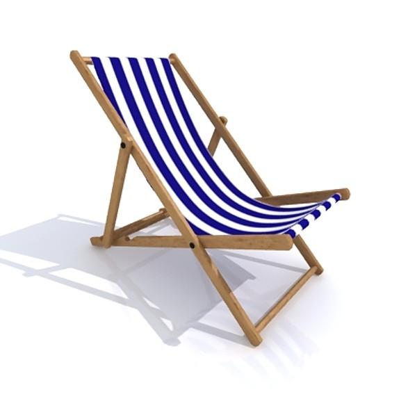 3d deck chair model IGMGWEV