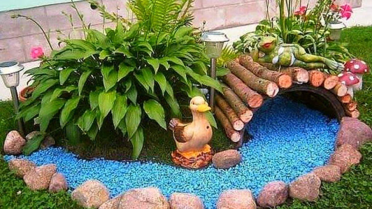 Garden ideas and designs in low maintenance