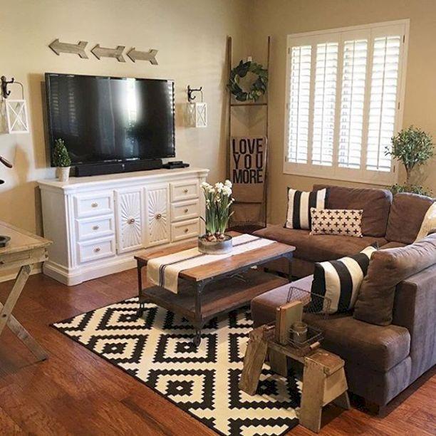 50+ shabby chic farmhouse living room decor ideas YVWHJUU