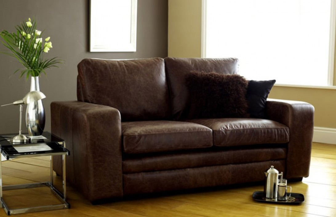 Buy leather sofa bed to save space and money