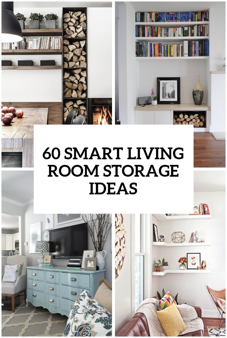60 simple but smart living room storage ideas DHXLMCX