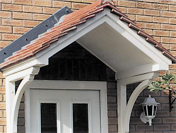a new door canopy will turn a house into a home. description from HFLKGIP