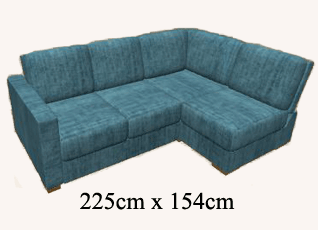 a small corner sofa fitted with a sofa bed FTZBDMH