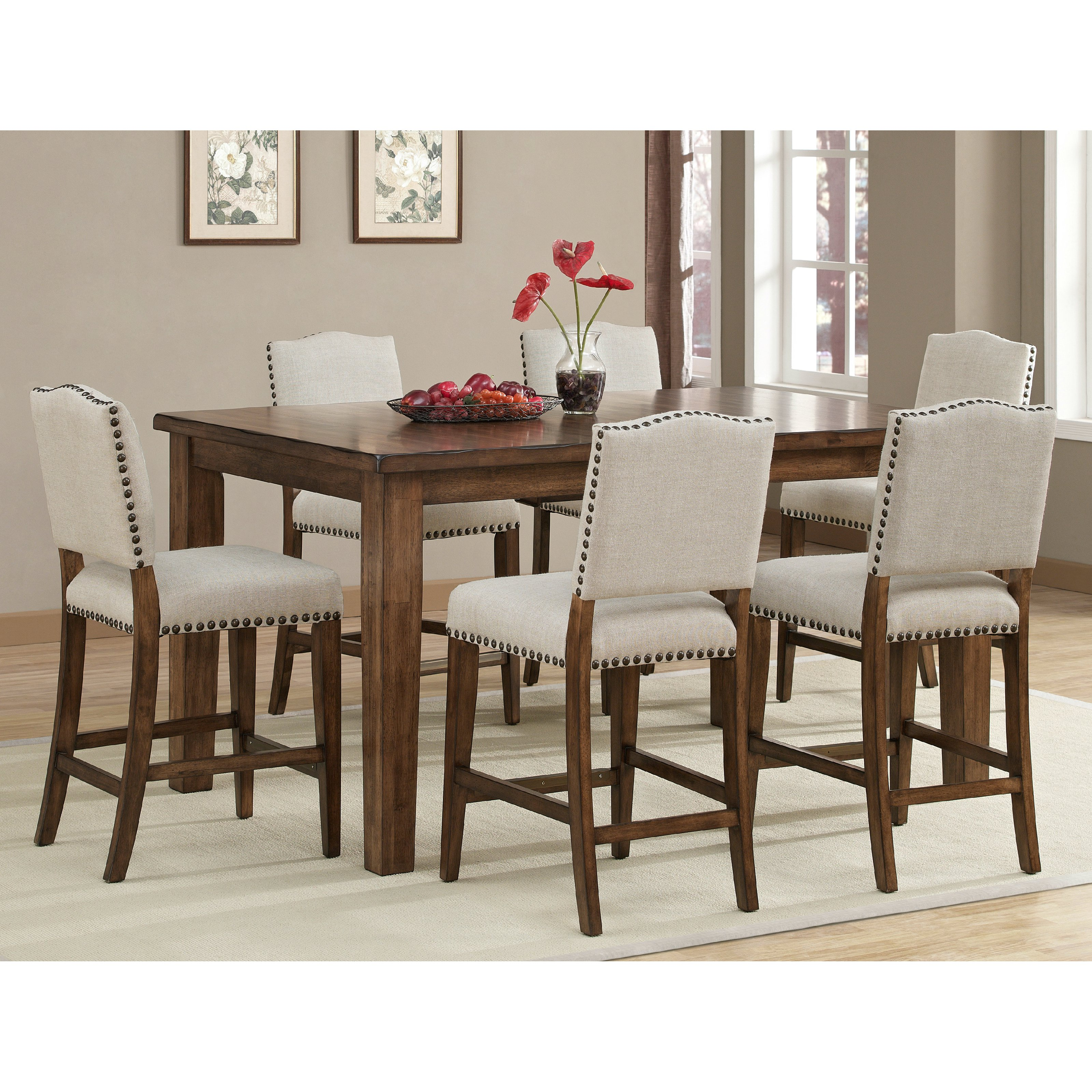 ahb cameo counter height dining table in coastal grey - dining tables at JEMJWTY
