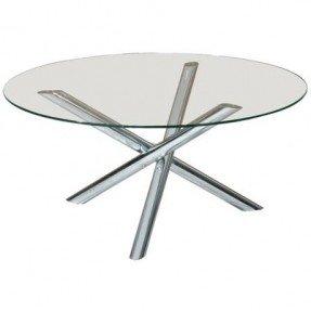 aiden round glass coffee table - REFHXEY