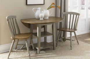 al fresco drop leaf leg table 3 piece dining set in driftwood u0026 DZNMOLV