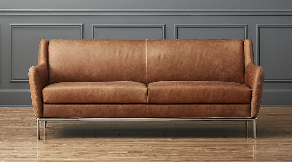 About leather sofa