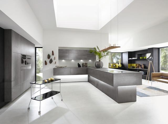 alno kitchens alno kitchen in concretto - concrete front modern-kitchen KNXCDVJ