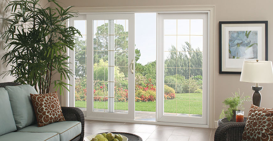 Buy sliding patio doors to increase the aesthetic look of your property