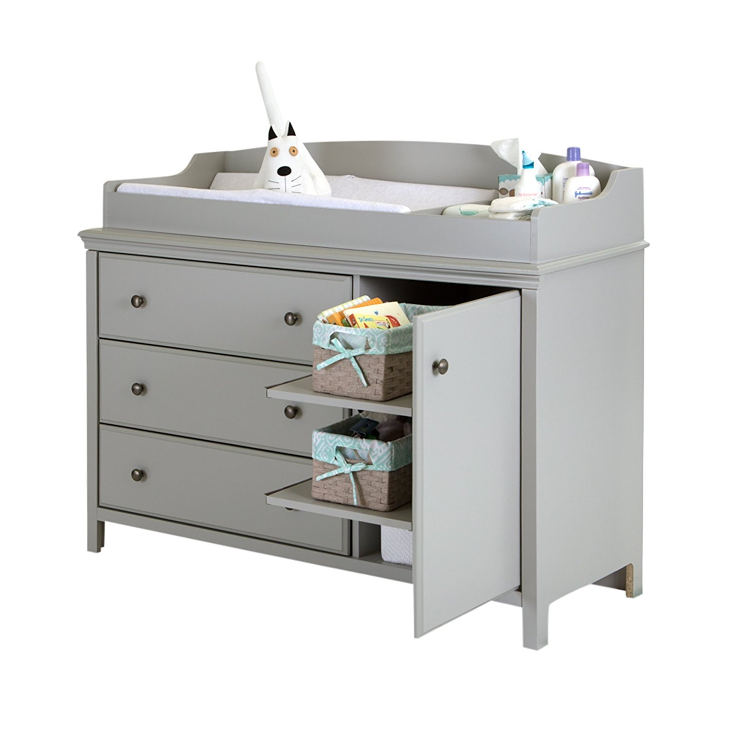 amazon.com : south shore cotton candy changing table with removable changing  station, FUUPMSM