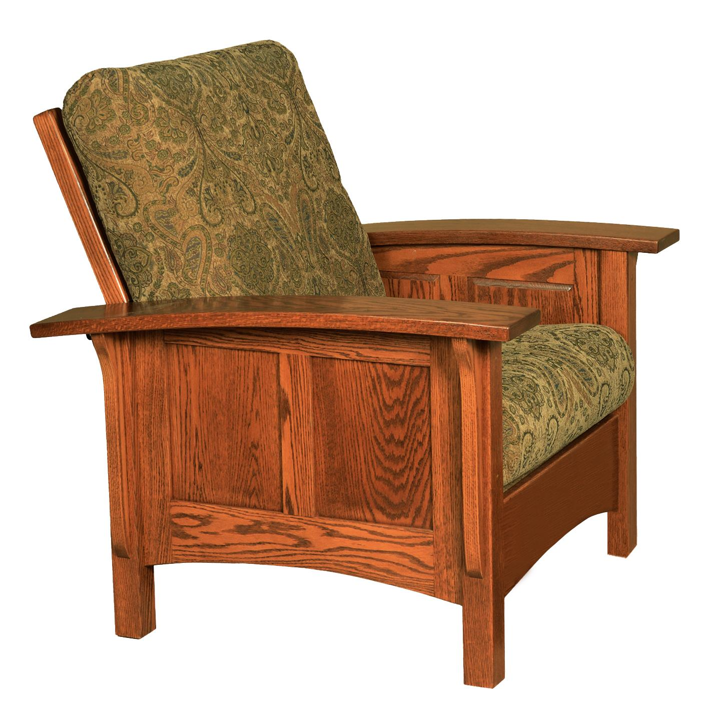 amish paneled mission morris chair GLWXCPB