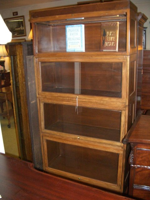 antique bookcase enlarge photo PCYEDGB