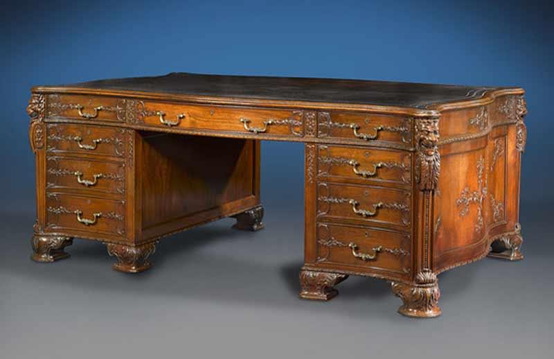 antique desk partners desk - desk designs from history - cdj0301 ... MNBTWGC