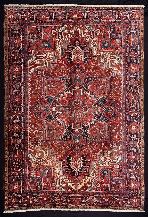 antique rugs 31605 persian heriz ETEBSMJ