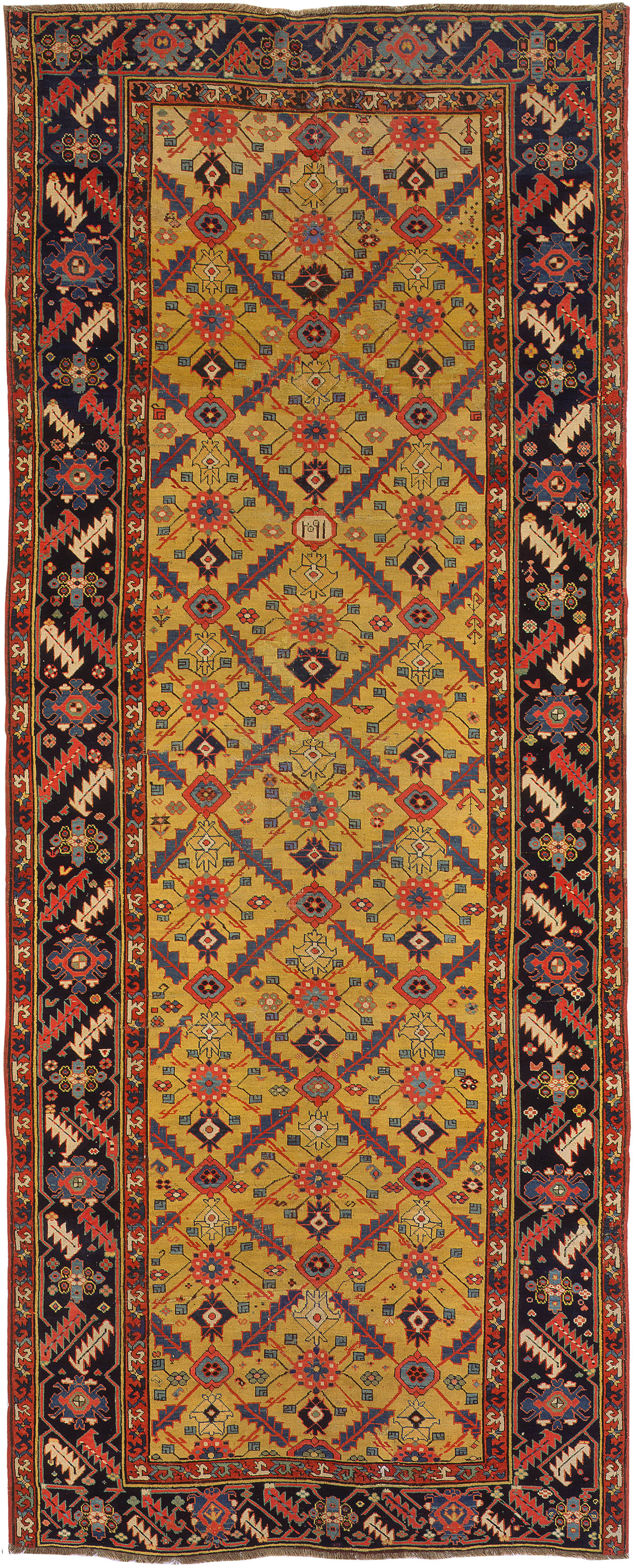 antique rugs antique caucasian azerbaijan rug by nazmiyal ZRVZAKX