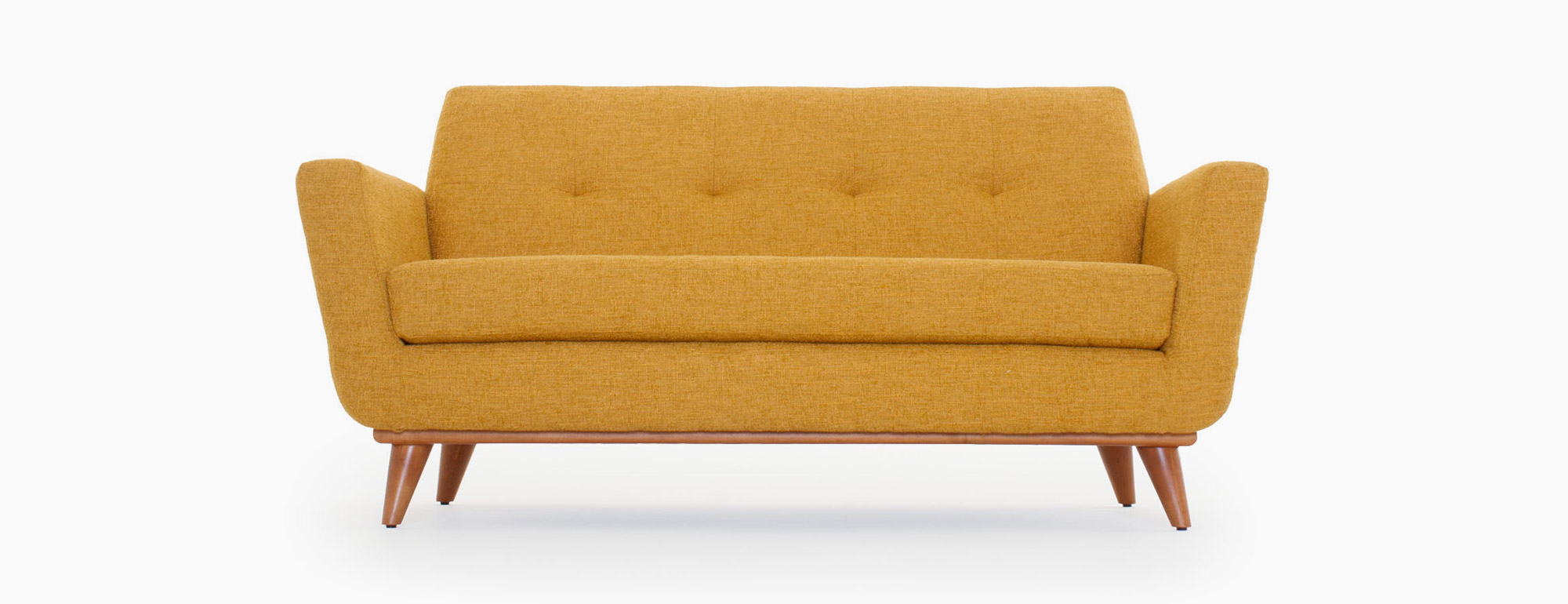 apartment sofa shown in cordova amber fabric DEBOEJW
