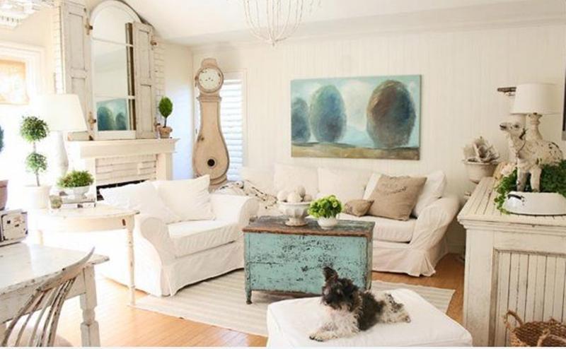 artsy shabby chic living room IYELTXV