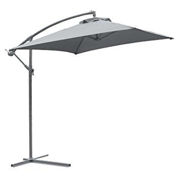 astonica 50104393 adjustable charcoal steel ribbed cantilever umbrella KYIKPOG