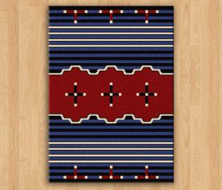 aztec rugs -24% big chief blue rug ZMKLMMH