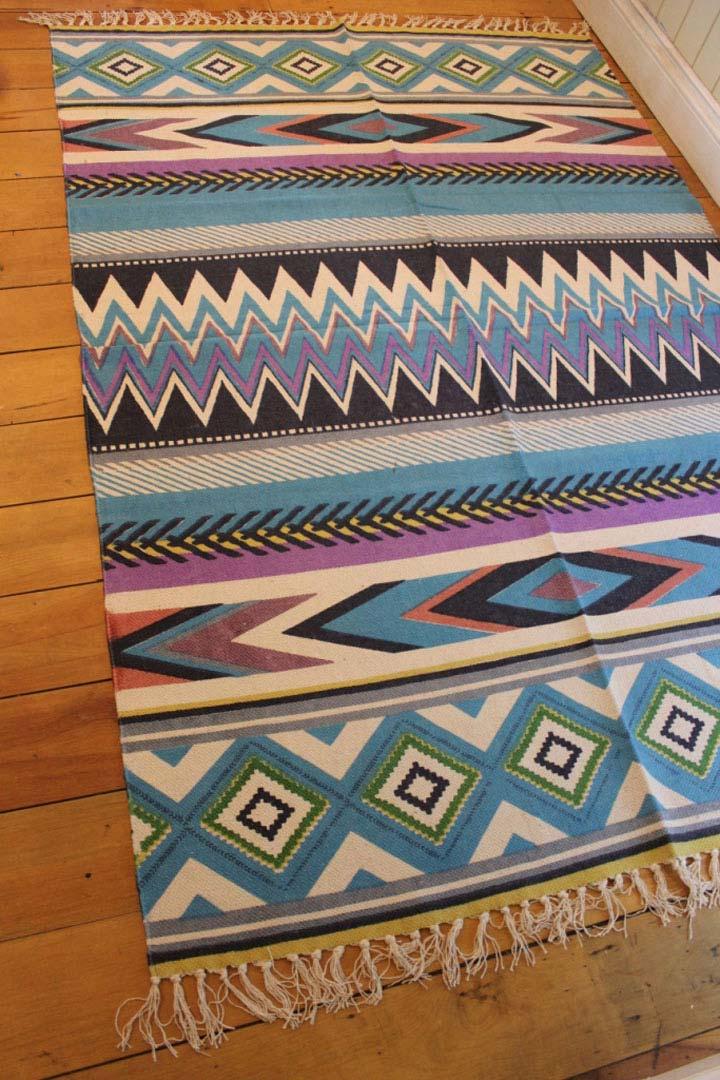 aztec rugs brown mexican aztec floor rug large blue beach style tulum cotton TXCERZE