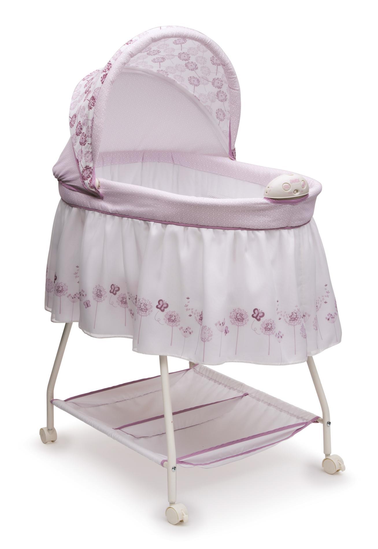 baby bassinet delta children infant girlu0027s sweet beginnings bassinet - floral YSORKZA