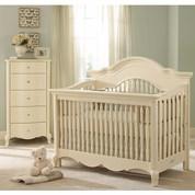 baby furniture sets 2 piece julia nursery furniture set w/ 5 drawer chest in white linen MXZTEYT