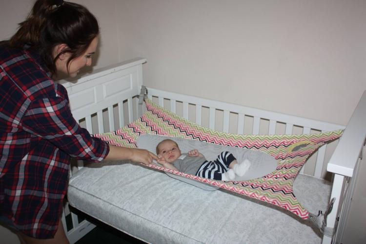 baby hammock crescent womb newborn crib hammock - newborn safety bed - reduces risk of UIFKJMG