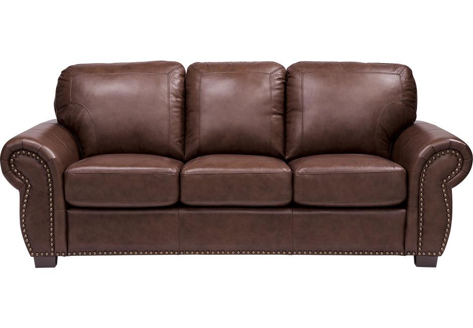 balencia dark brown leather sofa TFYDSGU