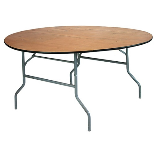 banquet tables 10-pack: 60-inch (5 ft.) round wood folding banquet DMYLLBV