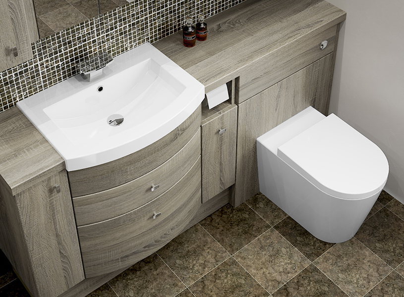 bardolino oak fitted bathroom furniture - the mid oak colouring and  woodgrain FWAAHOX