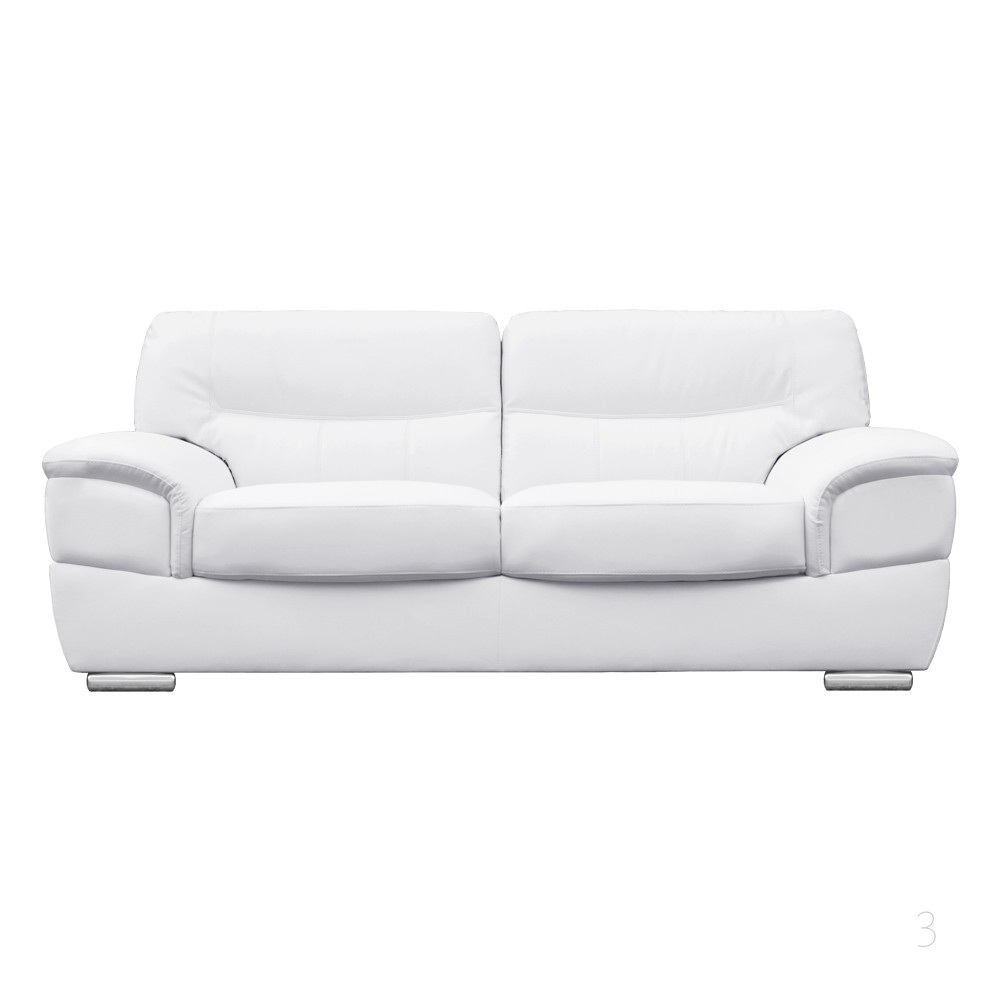 barletta italian inpired white leather sofa collection ZHHBTGO