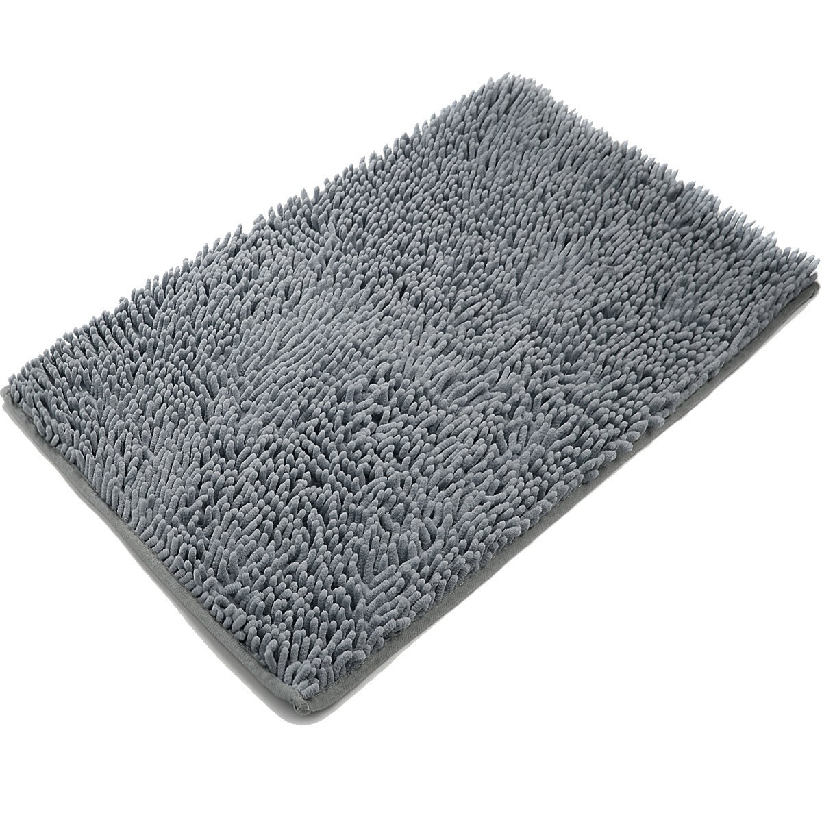 bath rugs amazon.com: vdomus non-slip microfiber shag bathroom mat, 20 x 32-inches,  dark gray: DNNGMNI