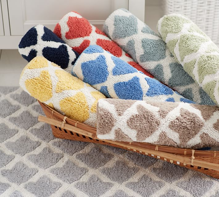 bath rugs marlo bath rug | pottery barn XGAGDHM