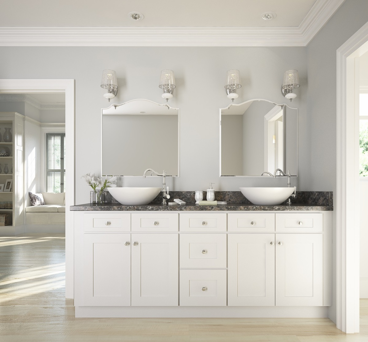 bathroom cabinets brilliant white shaker rta cabinets PIHBHXR