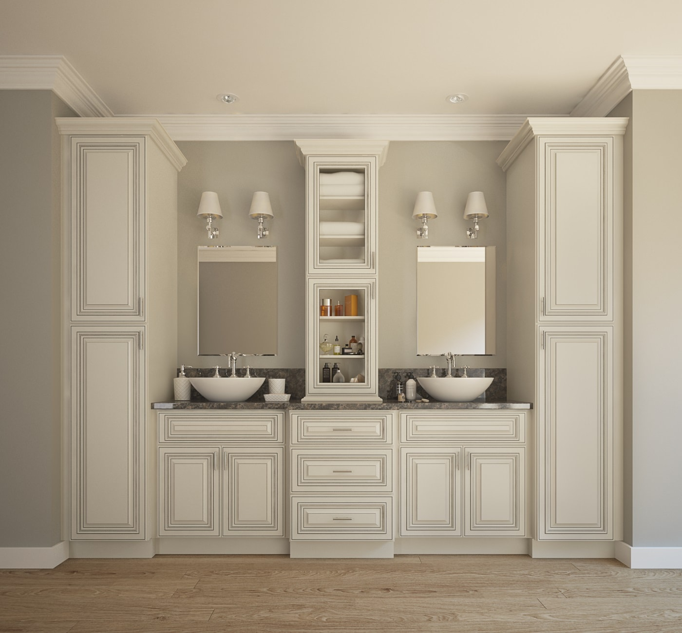 bathroom cabinets signature vanilla rta kitchen cabinets KQSQAIT