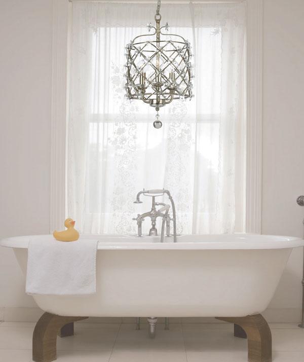 Make your bathroom amazing using bathroom chandeliers