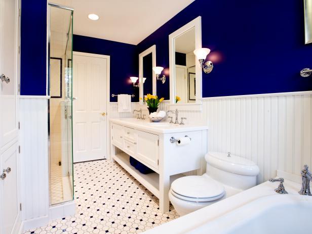 bathroom color bathroom colors bathrooms color. master bath comes alive with marine blue  walls UHOJTXV